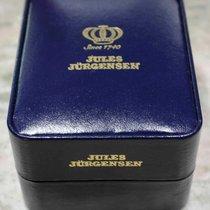 jules jurgensen vintage blu leather box newoldstock