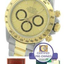 Rolex Daytona Zenith 16523 Two-Tone Stainless Gold Chronograph
