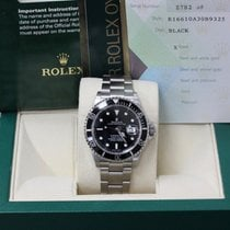 Rolex Submariner 16610  Black Stainless Steel Box & Papers