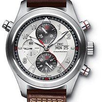 IWC Spitfire Double Chronograph Auto Silver dial Model IW371806