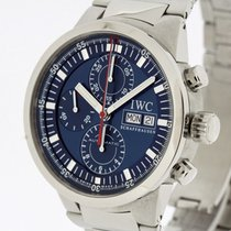 IWC GST Chronograph Rattrapante Blue Dial 3715 SERVICED by IWC