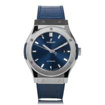 Hublot Classic Fusion Automatic Titanium Blue Mens Watch...