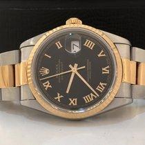 Rolex Datejust Ouro & Aço 36mm Black Dial Impecável