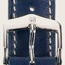 Hirsch Uhrenarmband Heavy Calf blau L 01475080-2-24 24mm