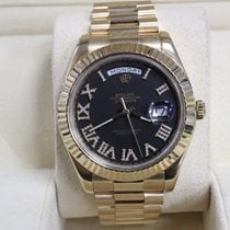 Ρολεξ (Rolex) President Day Date II Yellow Gold Black  Roman...