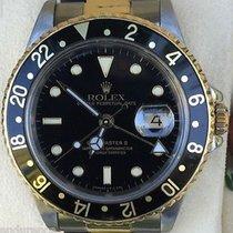 ロレックス (Rolex) Gmt Ii Two Tone 18k Gold & Steel Watch Black...