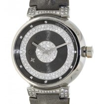 Louis Vuitton Tambour Q111u Steel, Diamonds, 36mm