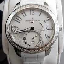 Ulysse Nardin JADE Stainless steel and diamonds Date watch