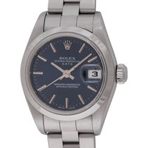 Rolex : Ladies Date :  79160 :  Stainless Steel : blue dial