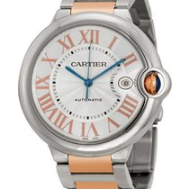 Cartier w6920095 Ballon Bleu 42mm in Steel and Rose Gold - on...