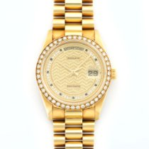 Rolex Yellow Gold Day-Date Diamond Watch Ref. 18048