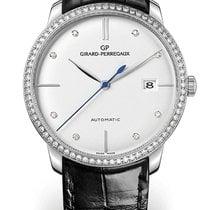 Girard Perregaux 1966 38MM White Gold Dial White Strap Black...