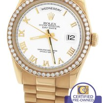 Rolex Day-Date President 36mm 118235 Diamond 18K Everose Rose...