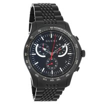 Gucci 126 G-Timeless Mens Black PVD Chronograph Quartz Watch...