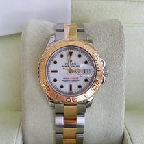 Rolex Yacht master Gold / Steel 69623 Full Set Papers & Box