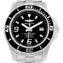 Breitling Aeromarine Superocean 44 Black Dial Steel Mens Watch...