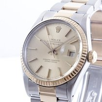 Rolex Mens 2tone Datejust - Champagne Dial w/ Oyster Band 16013