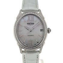 Vulcain First Lady Steel MoP Diamonds Silver-toned