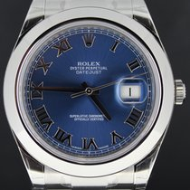 Ρολεξ (Rolex) Datejust II Steel 41MM,Blue Roman Dial, Full Set...