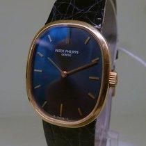 Patek Philippe vintage ELLIPSE ref 3548 blue dial meca gold 18ct