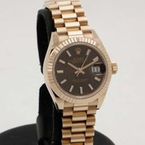 Rolex DateJust Everose - Brown Dial - 28mm - Full Set -...