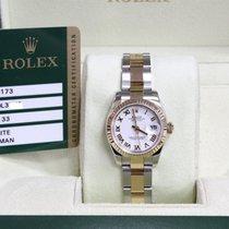 Rolex Datejust 179173 White Dial 18K YG & Steel  Box &...