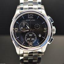 Hamilton JAZZMASTER CHRONO QUARZO Black-Steel Bracelet ...