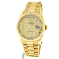 Rolex 18k Gold Day Date President Champagne 118238