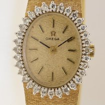 Omega Vintage 14k Yellow Gold Mechanical Ladies Watch With...