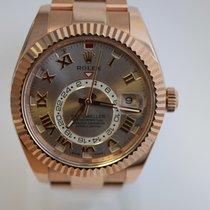 Rolex Sky-Dweller Rose Gold W/ Sundust Dial on Bracelet Mint Cond