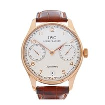 IWC Portuguese 18k Rose Gold Gents IW500113 - W3832