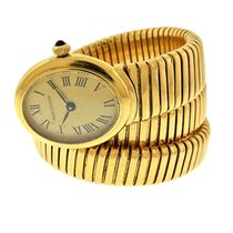 "Jaeger-LeCoultre 18k Yellow Gold Manual ""Snake"" Bracelet Watch..."