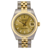 Rolex Lady-Datejust 31 Champagne Baton Dial 178273