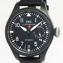 IWC Big Pilot Top Gun 5019 7 Days Black Ceramic Mens 48mm...