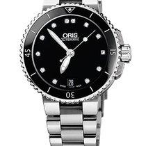 Oris Aquis Date Diamonds, Ceramic Top Ring, Steel Bracelet
