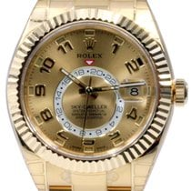 Rolex Sky-Dweller 326938 Men's 42mm Champagne GMT 18k...