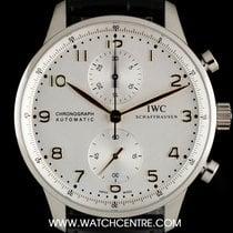 IWC S/Steel Unworn Silver Dial Portuguese Chrono B&P IW371445