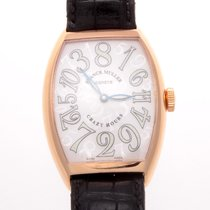 Franck Muller Crazy Hours with Black Leather Strap