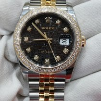 Rolex Datejust 36 black jubillee design dial in stainless...