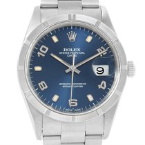 Rolex Date Mens Stainless Steel Blue Dial Mens Watch 15210