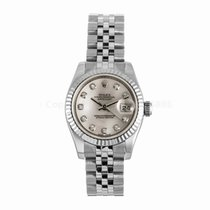 Rolex Datejust Ladies 26MM Pink Mother of Pearl Diamond Dial...