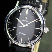 Omega Geneve Winding Black Dial Steel 1964s Vintage Mens Watch