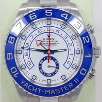 Rolex Yacht Master II 116680 44mm Gmt Stainless Steel Oyster...