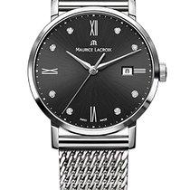 Maurice Lacroix Eliros Date Ladies Black Dial Diamond Steel...