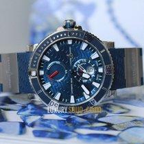 Ulysse Nardin Maxi Marine Diver Titanium Blue Dial Blue