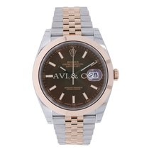 Rolex DATEJUST 41 Steel & 18K Rose Gold Chocolate Dial...