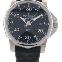 Corum Admirals Cup GMT Mens W/Box+Papers