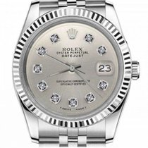 Rolex Authentic 31mm Rolex Datejust Diamond Dial W Silver...