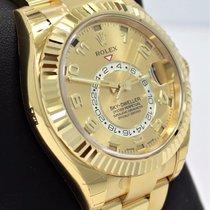 Rolex Sky-dweller 326938 18k Yellow Gold Oyster Men's...