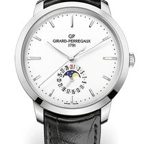 Girard Perregaux 1966 DATE AND MOON PHASES Steel Dial White...